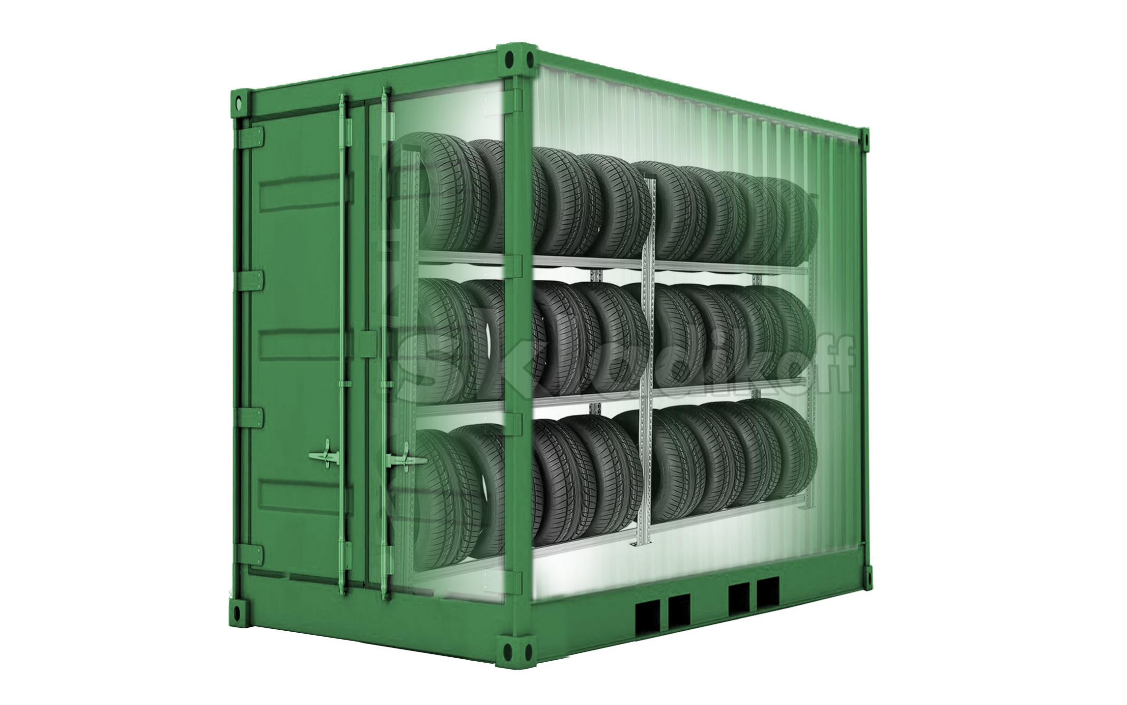 Правила хранения шин в контейнере
