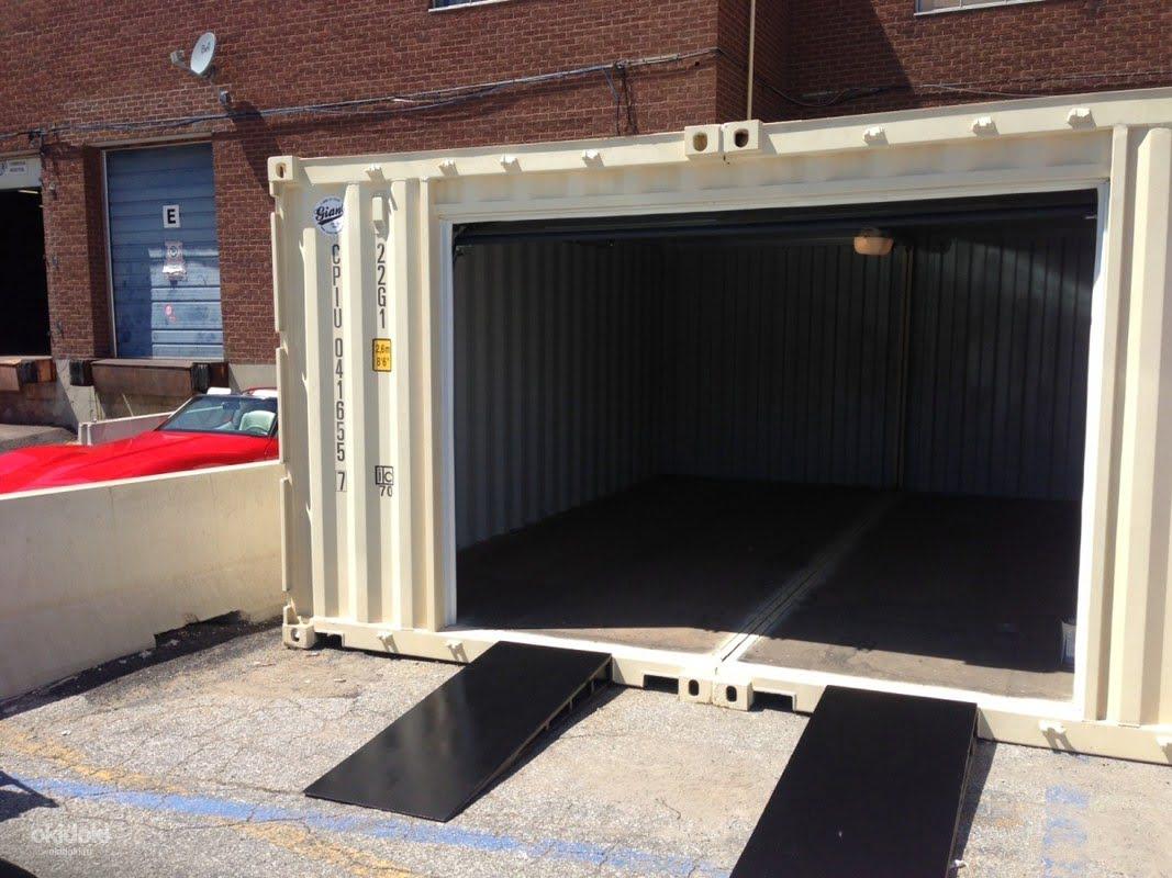 Гараж из контейнеров 40 и 20 футов